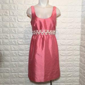 Vineyard Vines Pink Silk Vintage Style Dress